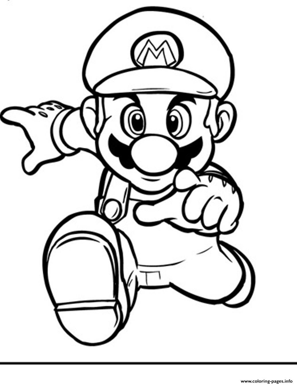 1035x1339 Mario Bros Printable Colouring Pagesing Simple Brothers And Luigi