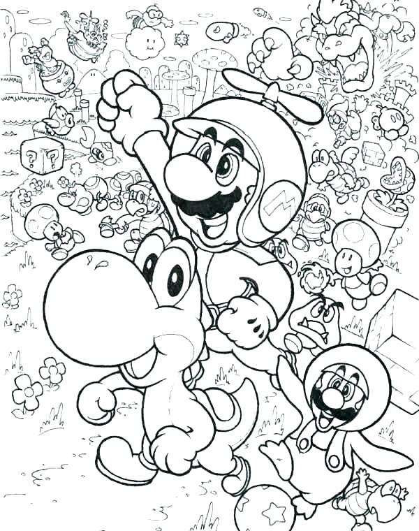 600x760 Mario Bro Coloring Pages Characters Coloring Pages Coloring Pages