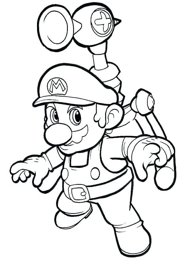 600x836 Mario Bros Coloring Pages Coloring Pages Download Or Print These