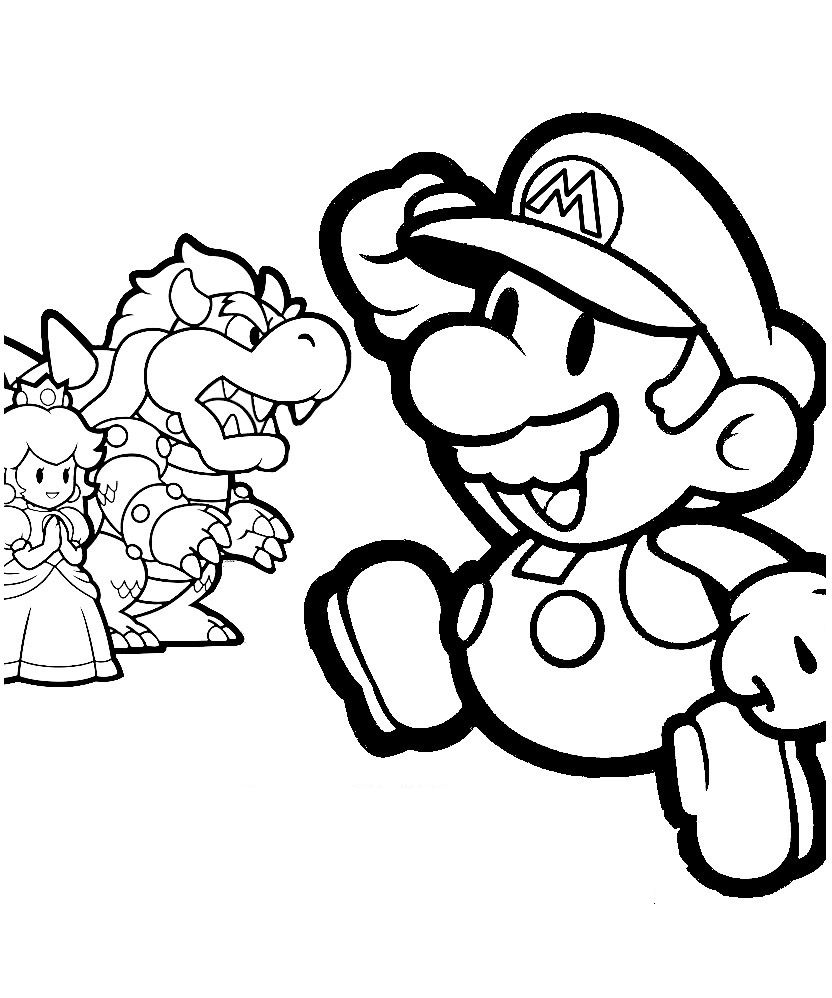 832x998 Mario Brothers Coloring Pages