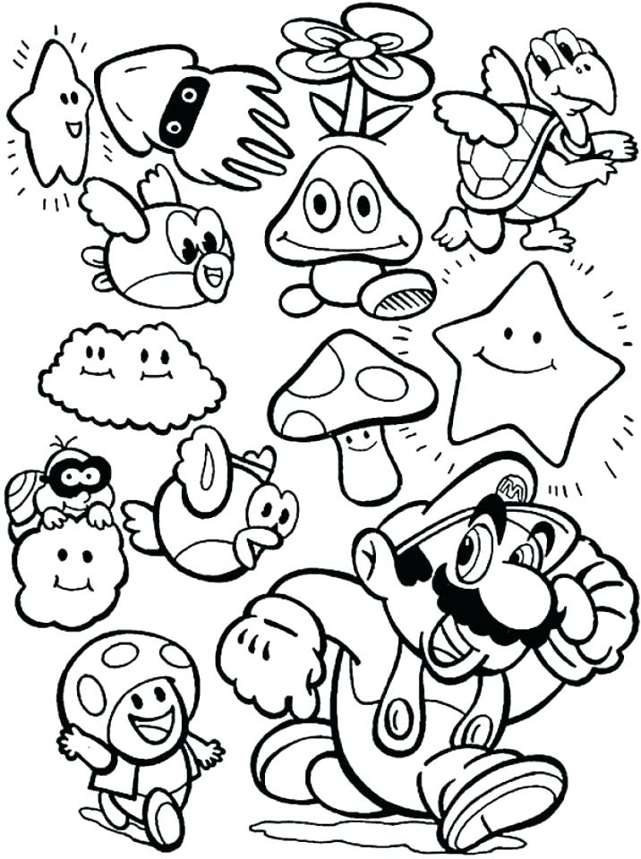 716x960 Super Bros Coloring Pages On Coloring Super Mario Brothers