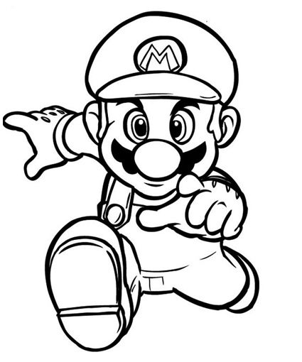425x510 Super Mario Bros Coloring Pages Pictures To Print And Color