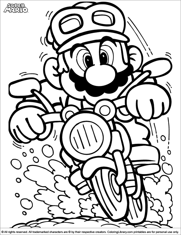 612x792 Super Mario Brothers Coloring Picture