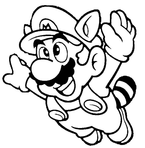 600x610 Super Mario Brothers Fyling To Th Sky Coloring Page Color Luna
