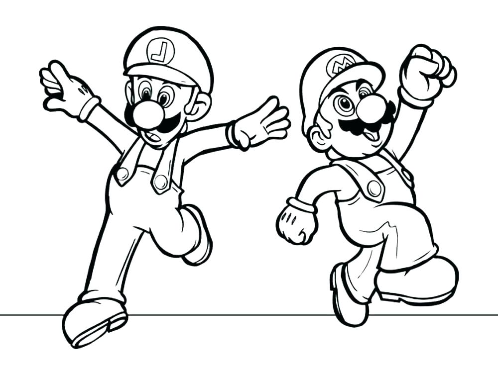 1000x754 Cool Coloring Pages Of Mario