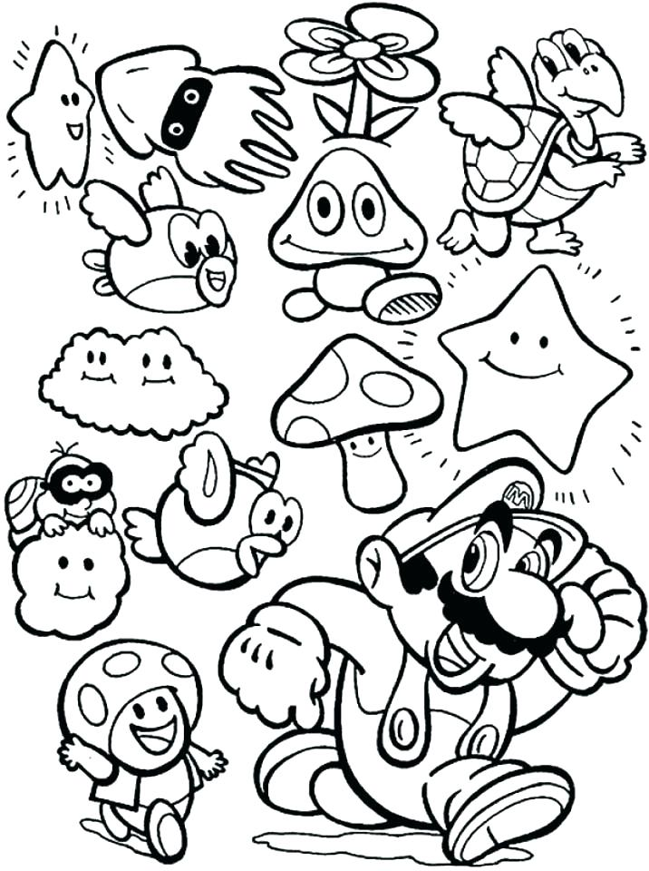 716x960 Free Printable Mario Brothers Coloring Pages Icontent