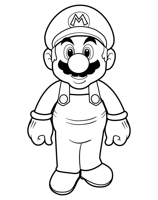 544x689 Printable Super Mario Bros Coloring Pages Free Coloring Pages