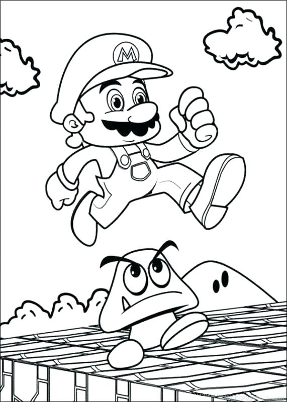 571x800 Super Mario Brothers Printable Coloring Pages Icontent