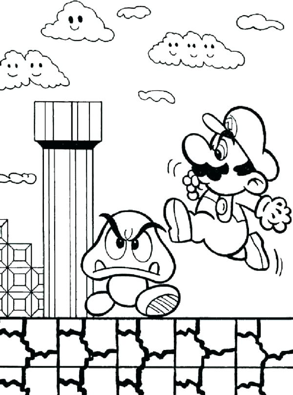 600x807 Mario Bro Coloring Pages Coloring Page Bros Coloring Pages Super