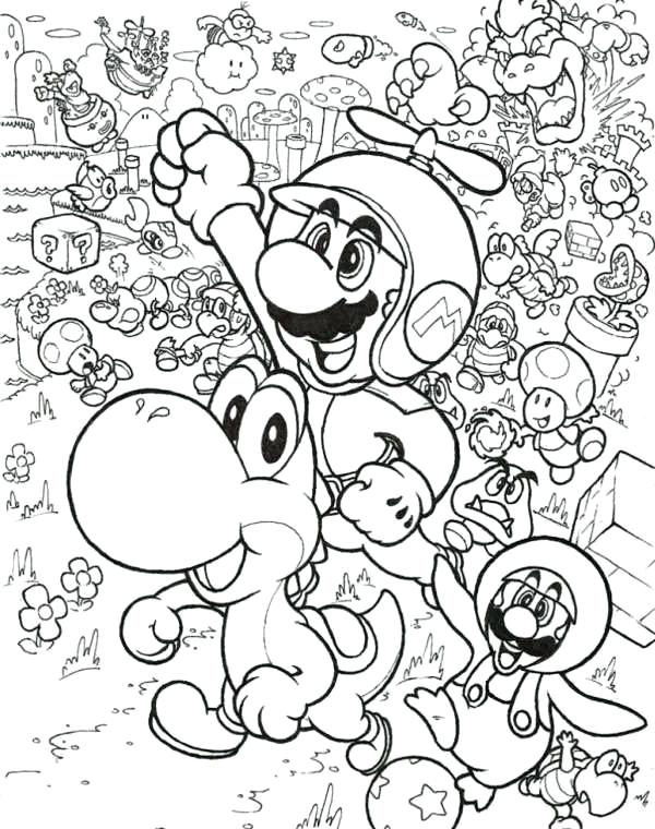 600x760 Mario Brothers Printable Coloring Pages