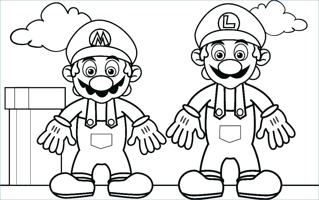 1086x682 Mario Printable Coloring Pages Coloring Page And Printable