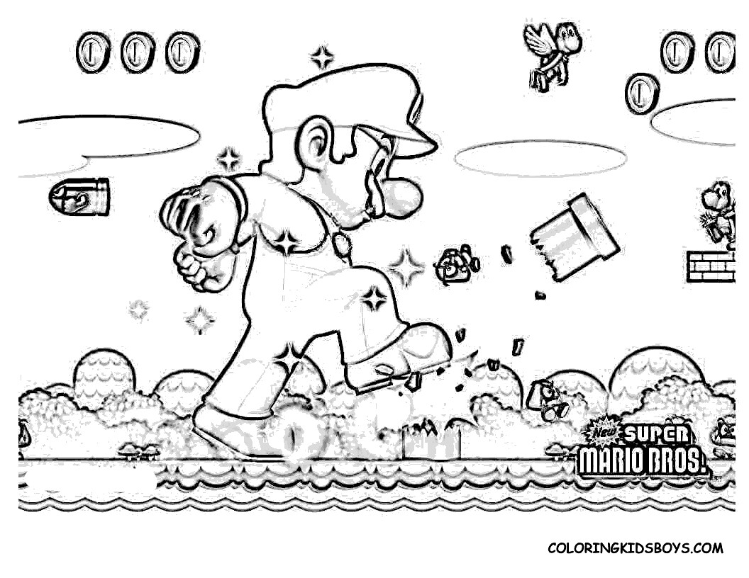 1056x816 Super Mario Bros Video Games Printable Coloring Pages Lovely