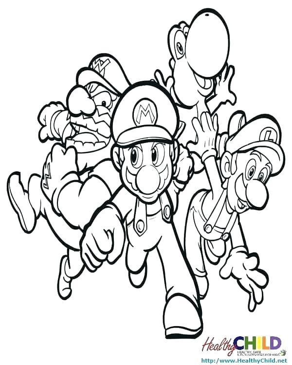 600x750 Super Mario Bros Coloring Pages Printables