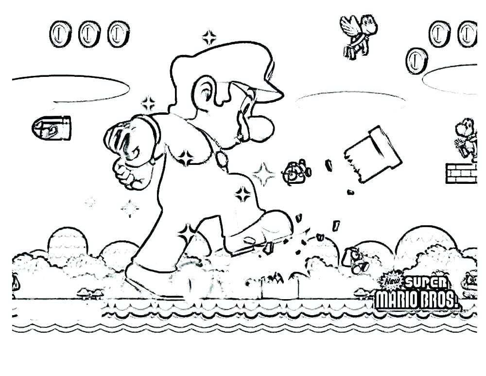 1000x773 Super Mario Brothers Coloring Pages Printables Printable Coloring