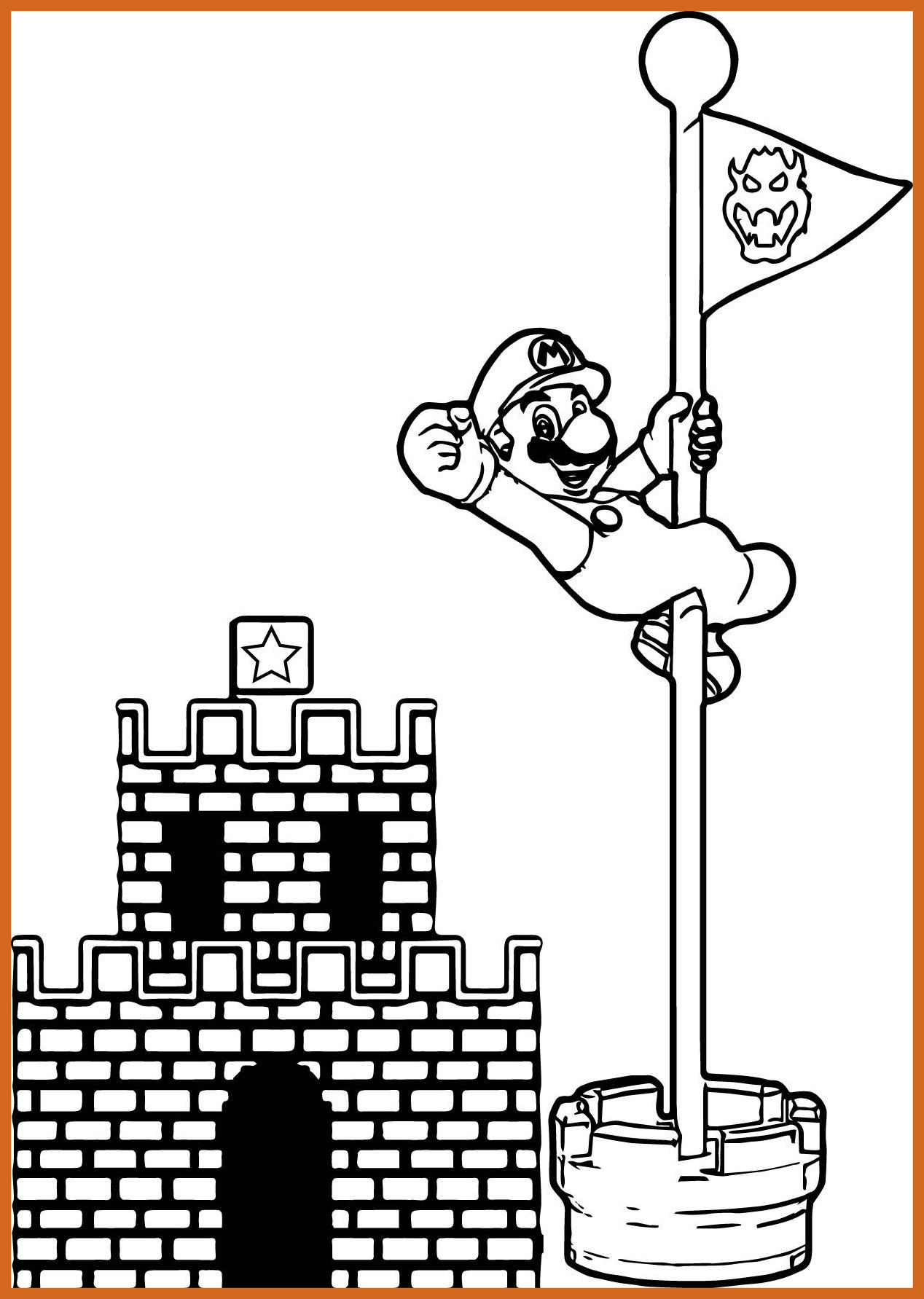 1268x1783 The Best Super Mario Bros Coloring Pages To Print Coloringstar