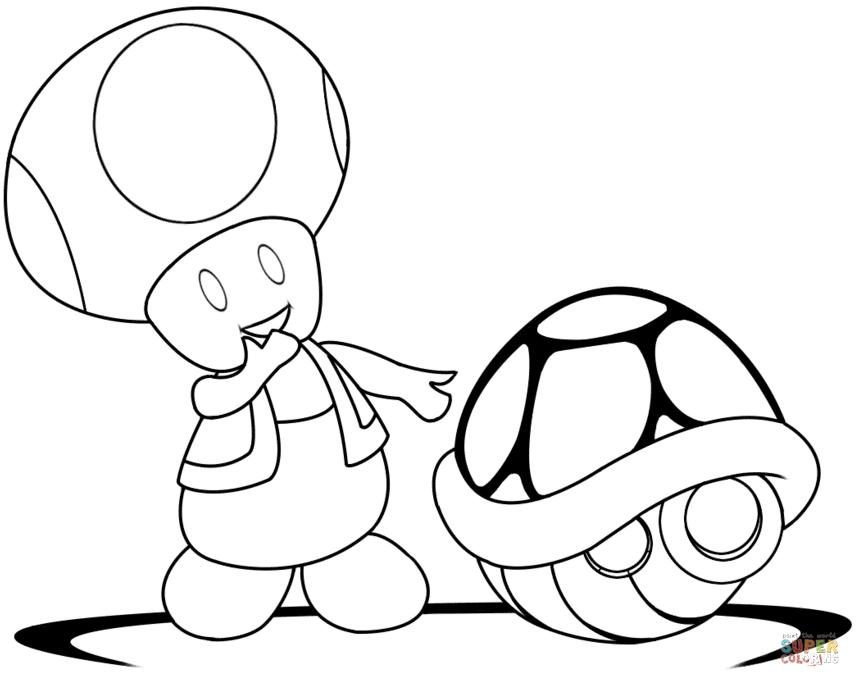 860x687 Toad Coloring Page Super Mario Bros Toad Coloring Page Free