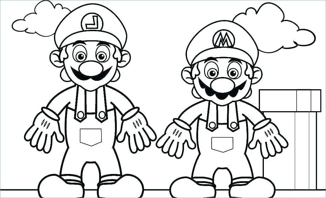 1086x659 Coloring Pages Of Mario