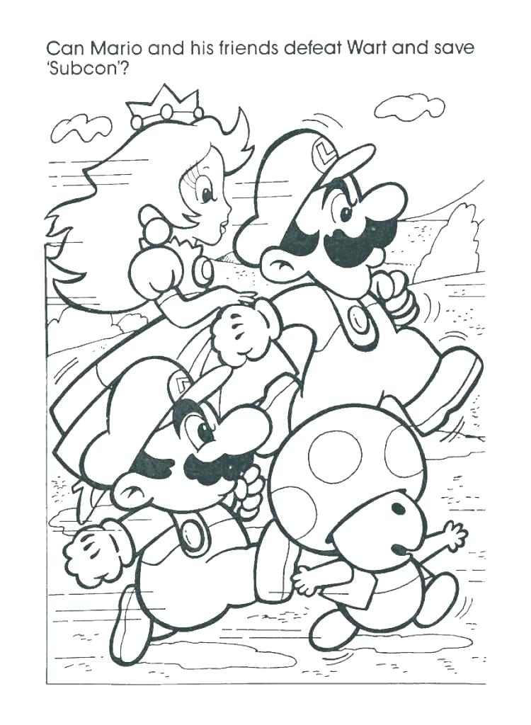 750x1024 Brothers Coloring Page Colour In Super Brothers Online Brothers