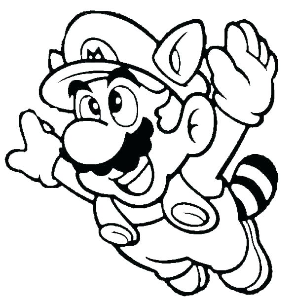 600x610 Luigi Coloring Pages Super Mario Brothers Luigi Coloring Pages