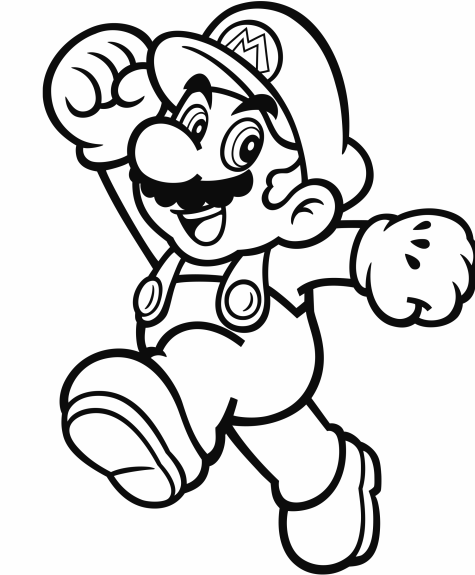 475x575 Official Mario Coloring Pages Gonintendo