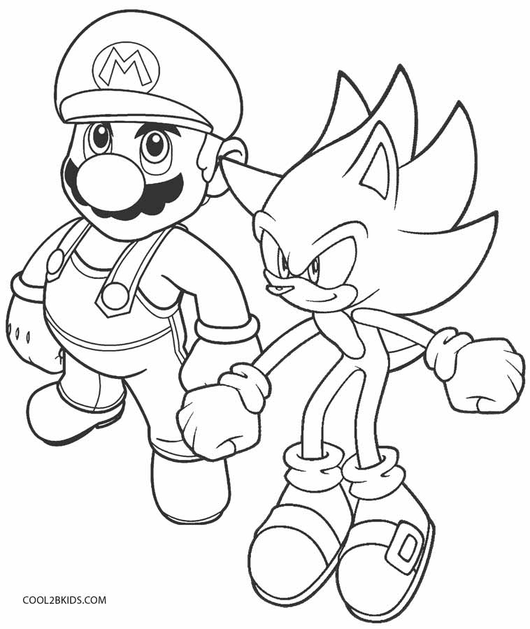 758x900 Printable Sonic Coloring Pages For Kids