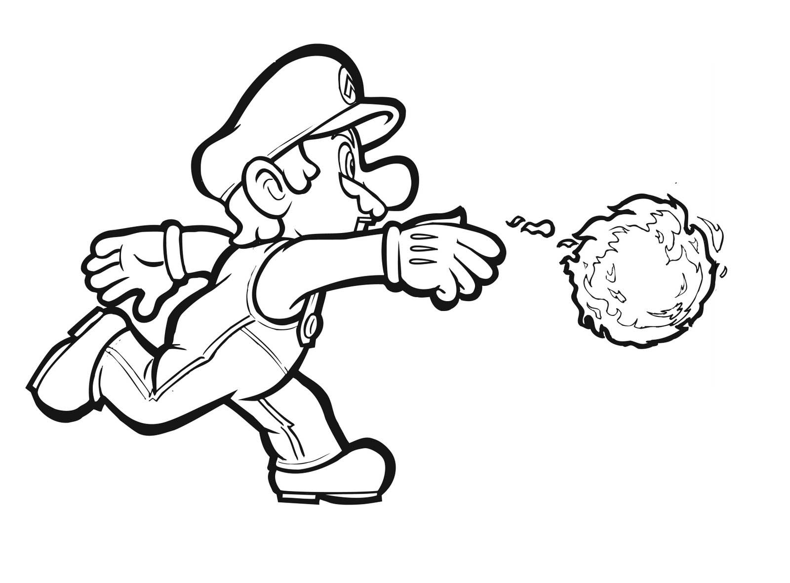 1600x1181 Mario Character Coloring Pages Print Many Interesting Cliparts