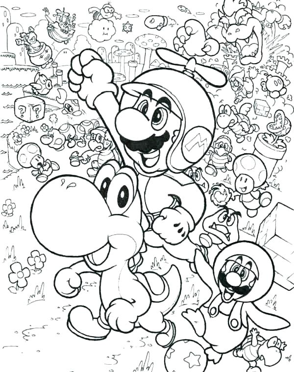 600x760 Mario Coloring Pages Super Coloring Pages To Print Mario And Luigi