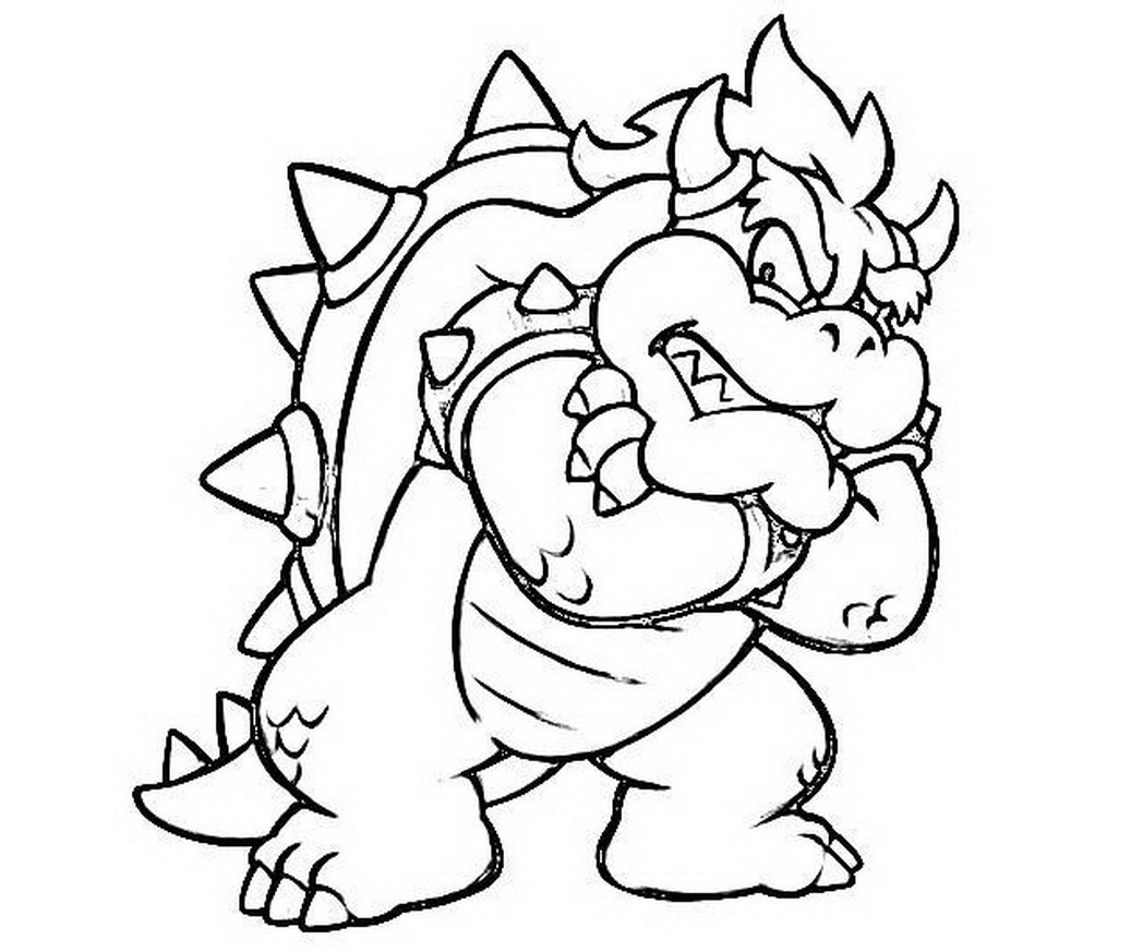 1048x873 Mario Bowser Coloring Pages