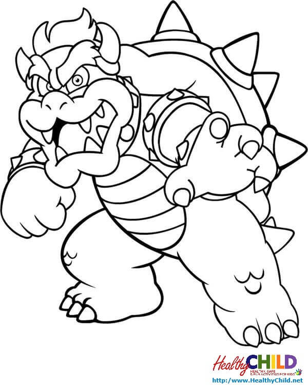 Mario Coloring Pages Bowser At Getdrawingscom Free For Personal