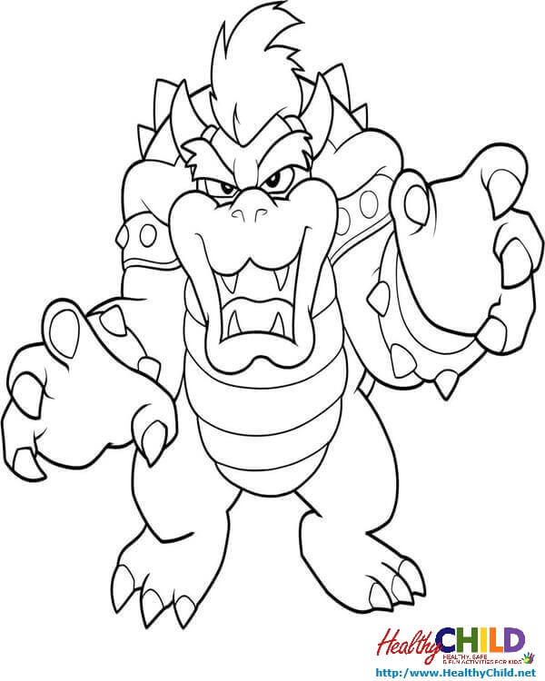 Mario Coloring Pages Bowser at GetDrawings.com | Free for personal ...