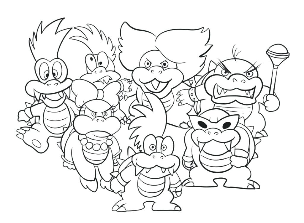 1024x753 Bowser Coloring Page Coloring Pages Super Bros Coloring Pages