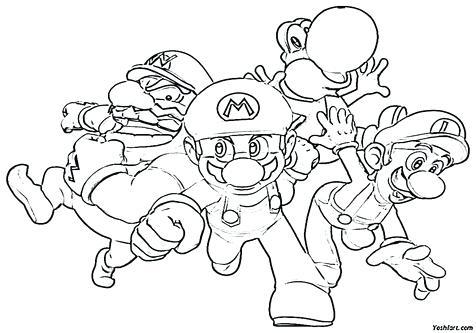 476x333 Super Mario Characters Coloring Pages Devon Creamteas