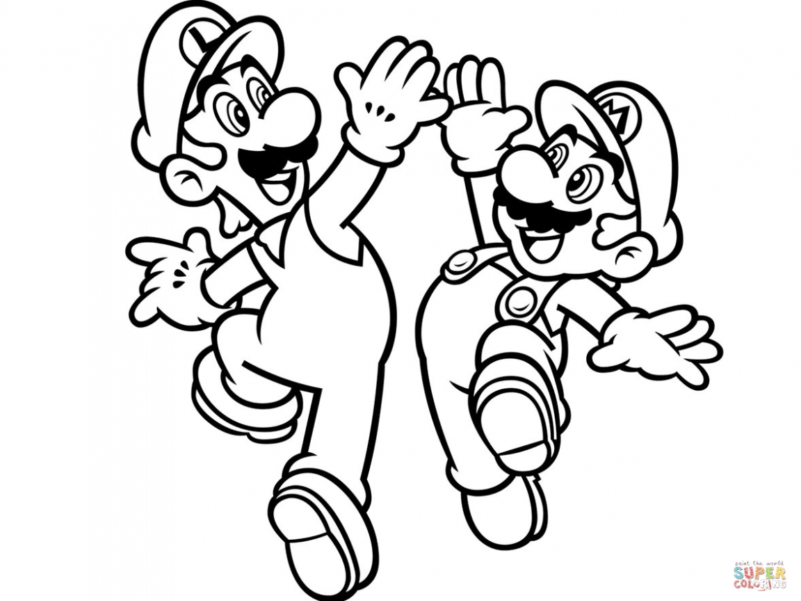 Mario Coloring Pages For Boys At Getdrawings Com Free For