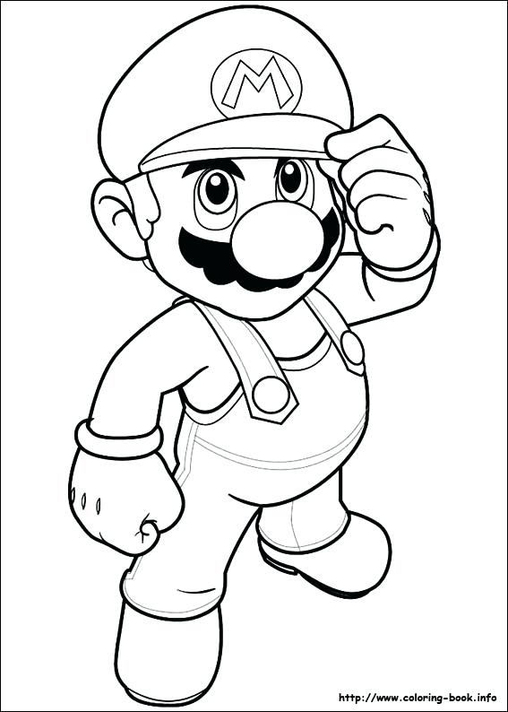 567x794 Mario Coloring Pages Online Discover
