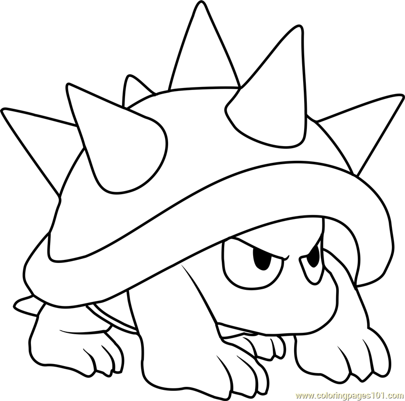 800x793 Spiny Coloring Page