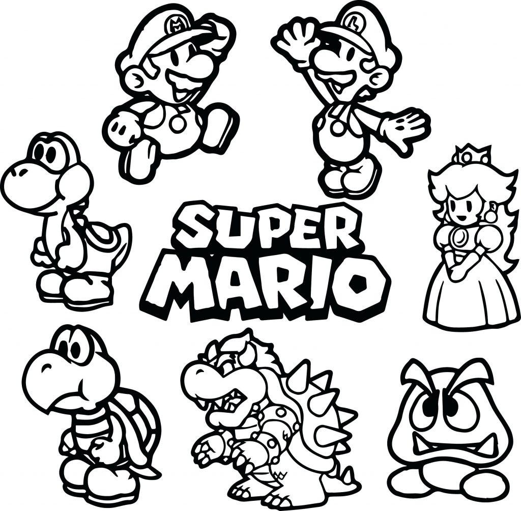 1024x1004 Coloring Page Mario Pages Online Super Colouring To Brilliant Acpra