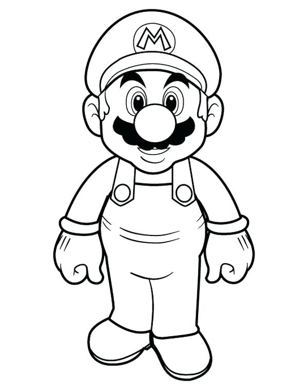 600x760 Super Mario Color Pages Super Mario Brothers Color Page