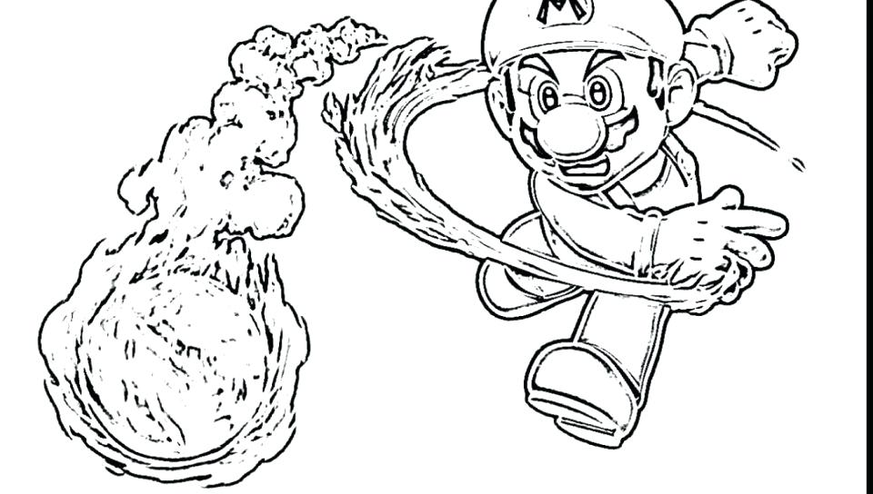 960x544 Super Mario Galaxy Coloring Pages Free Super World Coloring