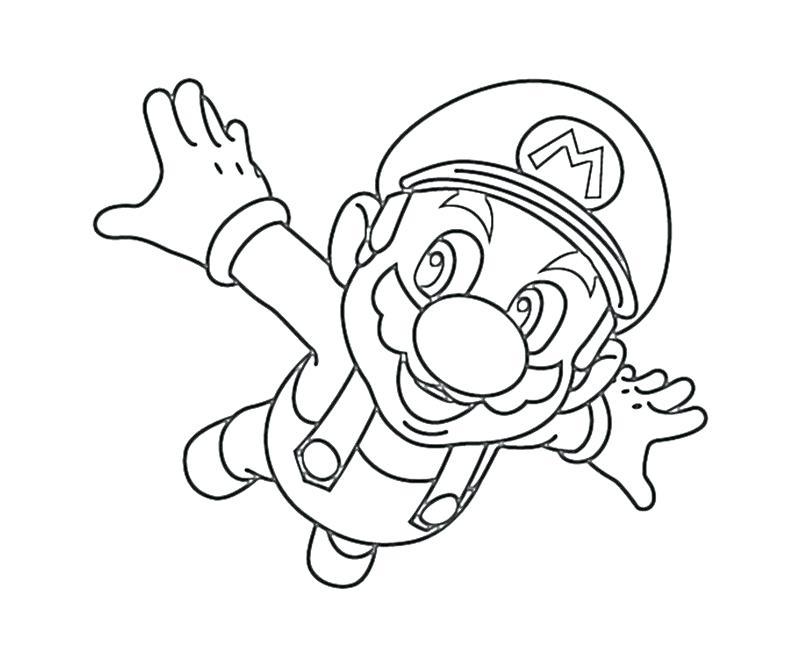 800x667 Super Mario Galaxy Coloring Pages