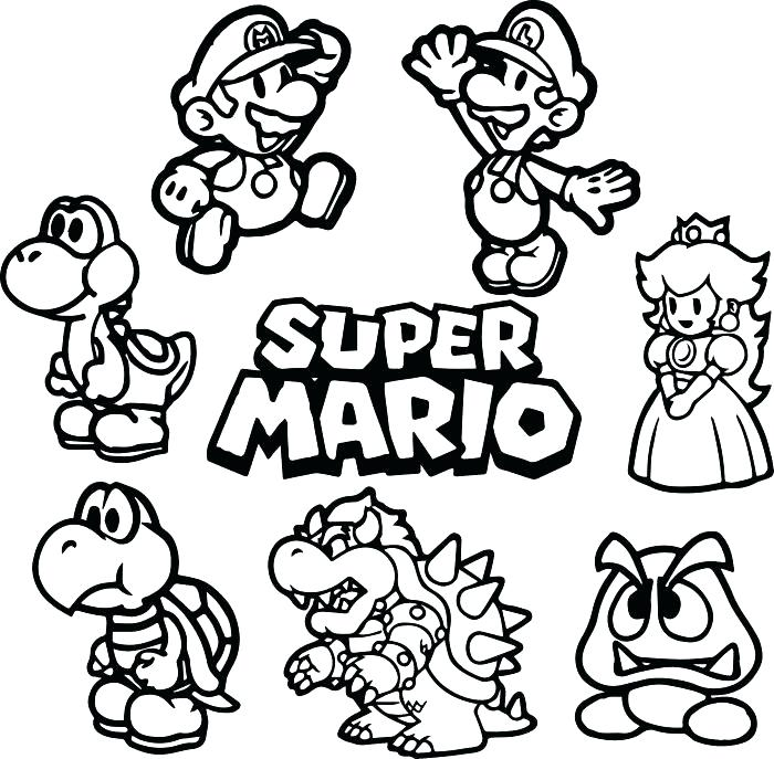 700x687 Super Mario Galaxy Coloring Pages Super Coloring Pages Gallery