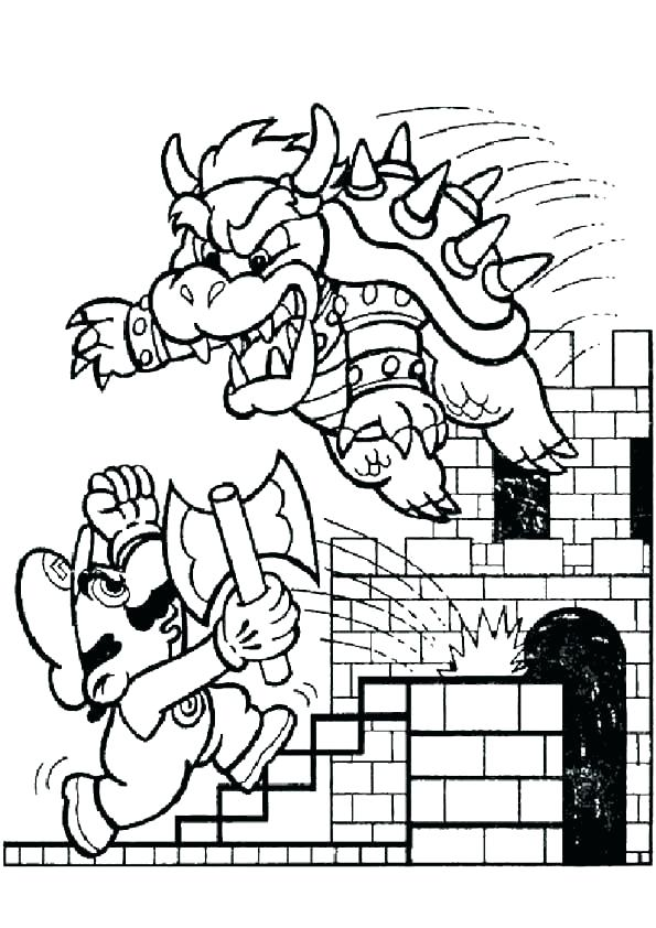 595x842 Super Mario Galaxy Coloring Pages Super Pictures To Color Print
