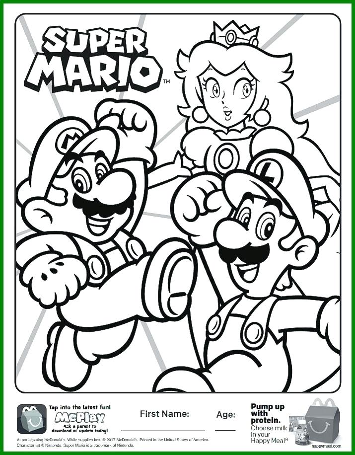 715x916 Mario Coloring Pages Printable Incredible Here Is The Happy Meal