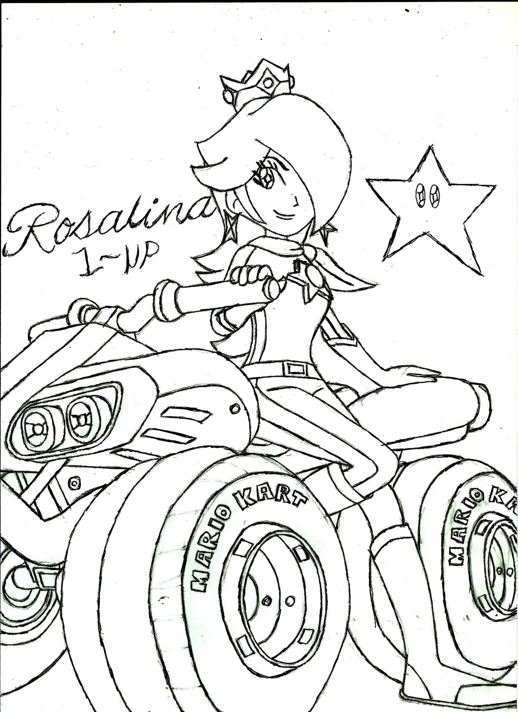 1024x1408 Mario Kart Coloring Pages