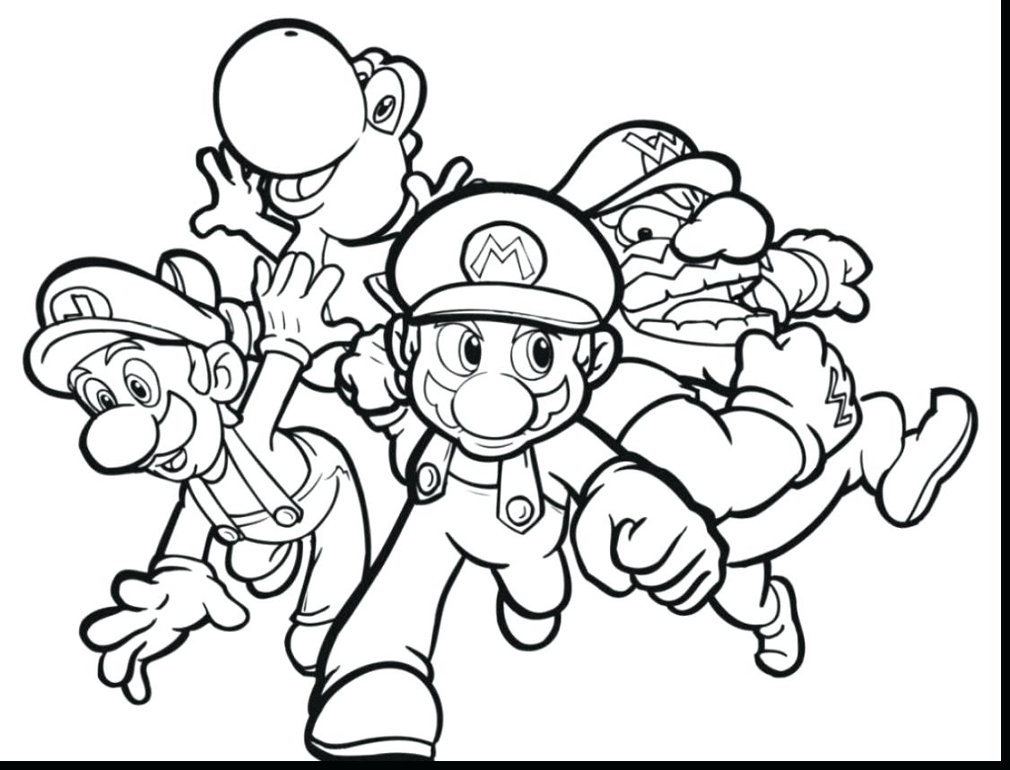 1126x858 Mario Kart Coloring Pages