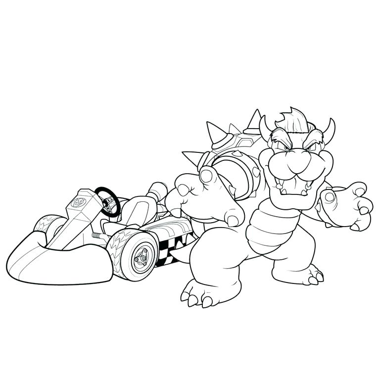 760x760 Mario Kart Coloring Pages Kart Coloring Pages Coloring Page
