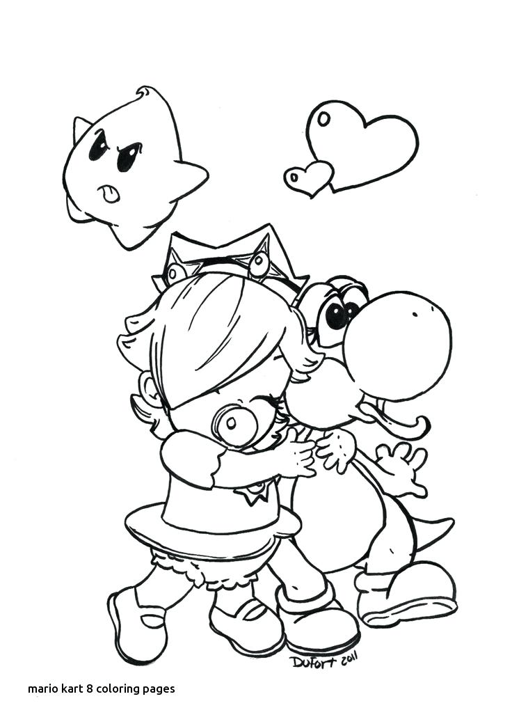736x1040 Mario Kart Coloring Pages