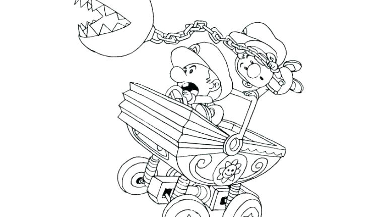 Mario Kart Coloring Pages At Getdrawings Com Free For