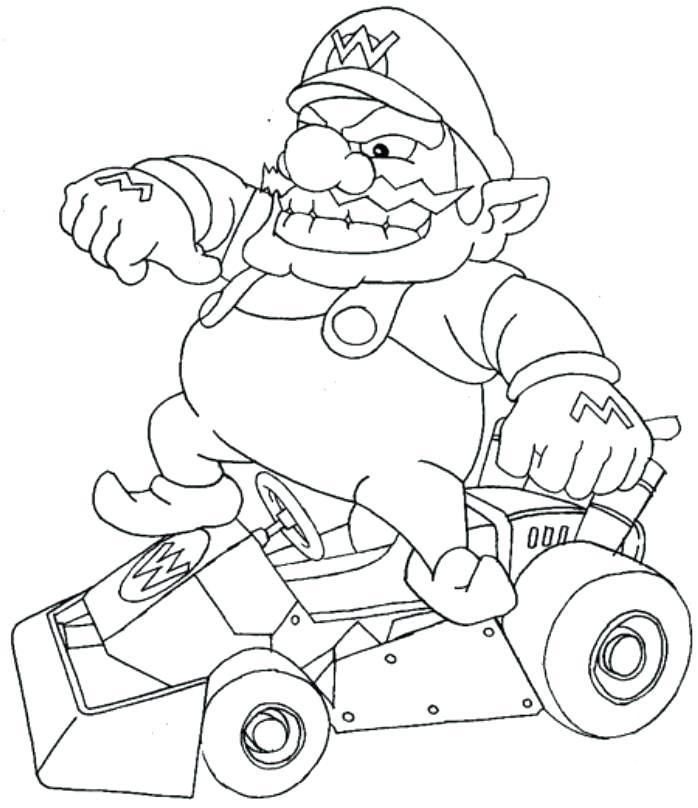 698x808 Colorear Mario Kart Coloring Page For Kids Dibujos Para Colorear