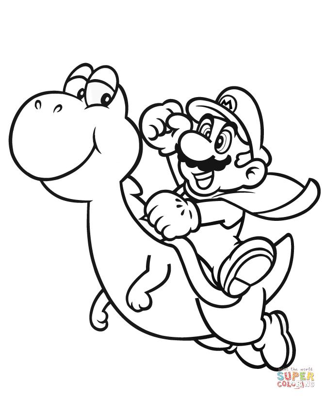 Mario Kart Coloring Pages Yoshi At Getdrawings Com Free