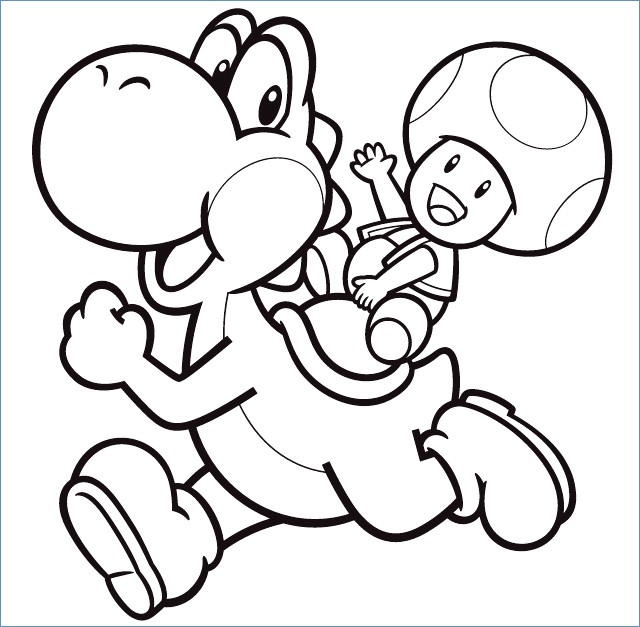 Mario Kart Coloring Pages Yoshi At Getdrawings Free Download